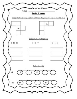 Early Years Math Enrichment Sheets