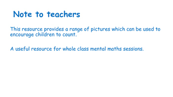 Early Years Math. Let's Count Things.