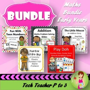 Early Years Maths Bundle Problem Solving Addition Counting Patterns Activities