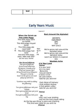 Early Years Music