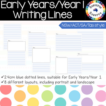Handwriting Lines - Early Years/Foundation/Year 1 {NSW/ACT/SA/Tas style}