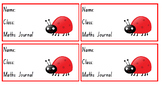 Early Years Workbook Labels