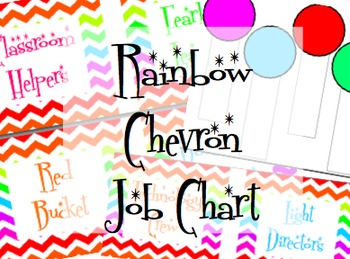 Rainbow Chevron Job Chart