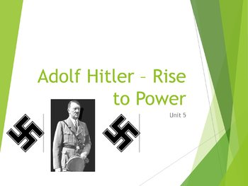 Early Years of Hitler PowerPoint, Guided Notes, and Completed Notes
