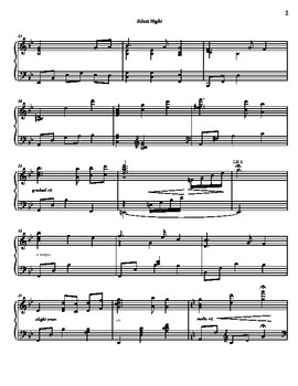 Early advanced Christmas Piano Solo