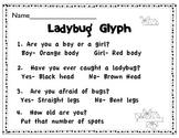 Early childhood Ladybug Glyph with craft