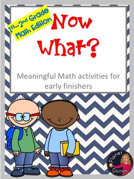 Early finishers work 1st-2nd grades math edition choice board