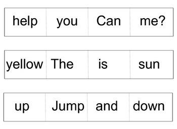 Early learner - Creating Basic Sentences