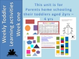 Early learning weekly activity