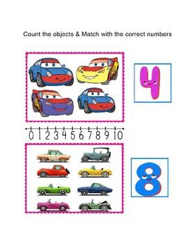 Early math Skill: Kindergarten activities workbook mix game