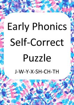 Early phonics self correcting reading puzzle