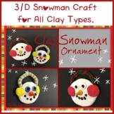Earmuff Snowman Ornament