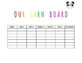Earn Board For Good Behavior Tracking