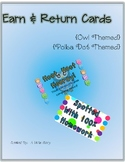 Earn & Return Cards- Polka Dot or Owl Theme