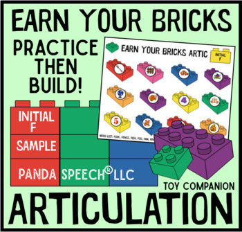 Earn Your Bricks Artic! FREEBIE A Speech Therapy Toy Companion