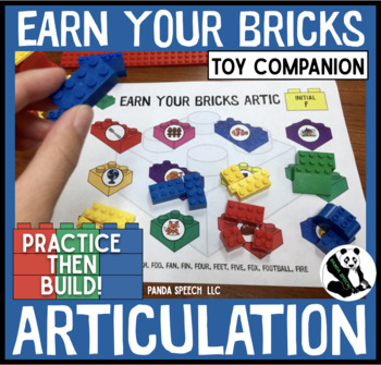 Earn Your Bricks Artic! A Speech Therapy Toy Companion