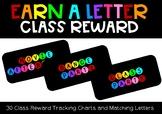 Earn a Letter - Class Reward Tracker
