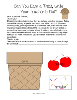 Earn a Treat! Substitue Behavior Incentive