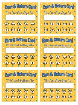 Earn and Return Cards Minions