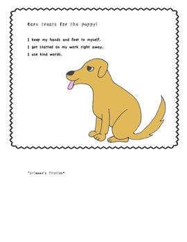 Earn treats for the Puppy! Behavior Chart