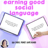 Earning Social Language Skills a game for speech therapy
