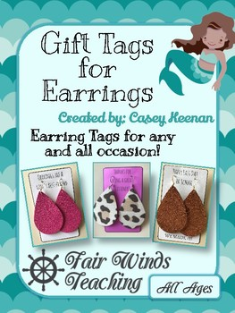 Earring Gift Tags