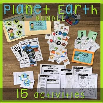 Earth Activities (Geography Activities) for PreK and Kindergarten