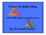 Earth & Alternative Energy Vocabulary Bingo