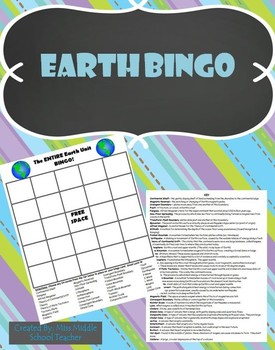 Earth BINGO