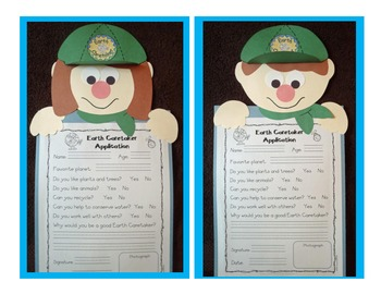 Earth Caretaker Application and Activities to Celebrate Earth Day!