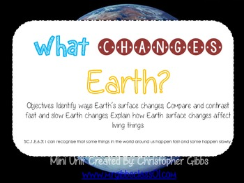 Fast and slow changes teaching resources teachers pay teachers earth changes fast and slow changes mini unit foldables and more sciox Gallery