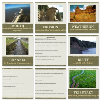 Earth Changes Landforms Vocabulary Presentation