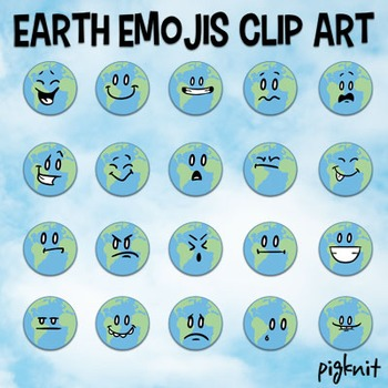 Earth Clip Art   Earth Day Emojis, Emoticons, Facial Expre