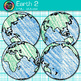 Earth Clip Art {Globes & Maps Showing All Hemispheres for Geography} 2