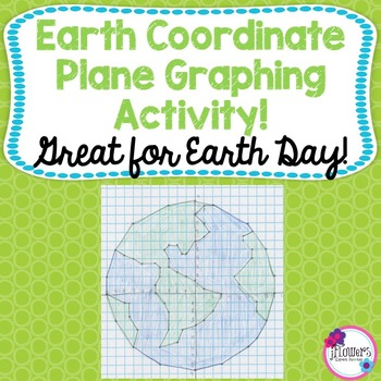 Earth Day Math Coordinate Graphing Picture