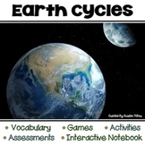 Earth Cycles: Vocabulary, Posters, Assessments, Interactive Notebook & Games