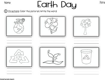Earth Day- Vocabulary Pack