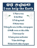 Earth Day (10 ways I can help the Earth)
