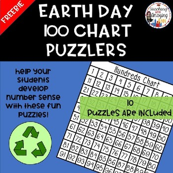 Earth Day 100 Chart Puzzler FREEBIE
