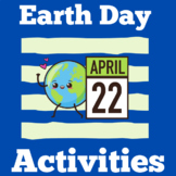 Earth Day | Kindergarten 1st 2nd 3rd Grade | Activities