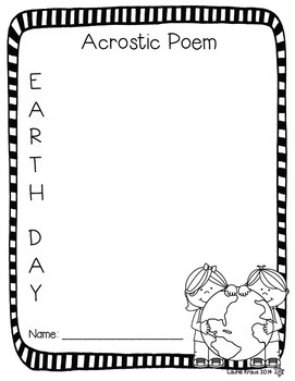 Earth Day Poetry Writing