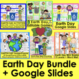 Earth Day Activities: Graphing, Songs, Readers, Skip Counting + Bonus Boom Cards