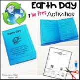 Earth Day Writing Activities for Kindergarten, first grade, second grade