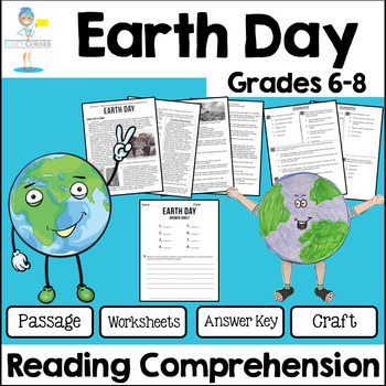 Earth Day Reading Comprehension - Informational Text * Questions * Foldable 6-8