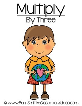 Earth Day Math A Quick and Easy to Prep Multiply By Three Center Game