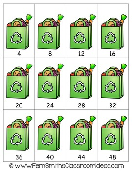 Earth Day Math A Quick and Easy to Prep Multiply By Four Center Game