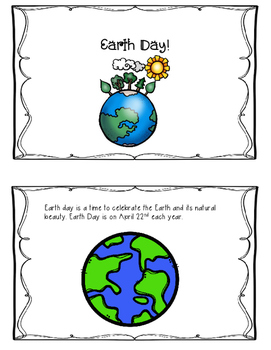 Earth Day Printable Reader and Writing Journal