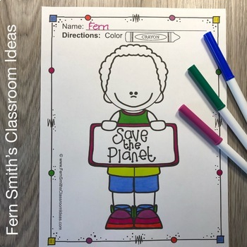 Earth Day Coloring Pages - 28 Pages of Earth Day Coloring Book Fun