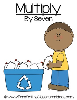 Earth Day Math A Quick and Easy to Prep Multiply By Seven Center Game