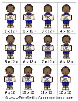 Earth Day Math A Quick and Easy to Prep Multiply By Twelve Center Game